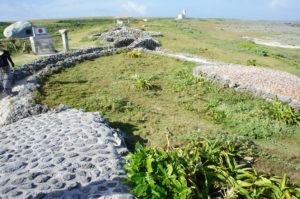 最南端の碑に続く遊歩道