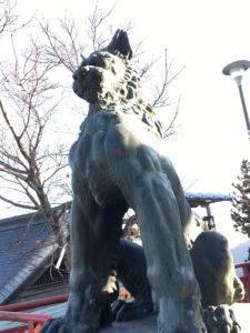 御嶽神社の狛犬