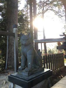 大口真神社の狼