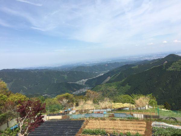 御岳山の展望台からの景色