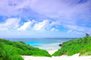 砂山ビーチの景色