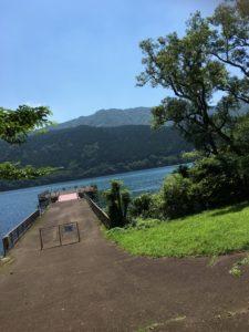 九頭龍の森から見える芦ノ湖