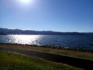 諏訪湖の眺め