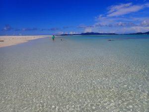 はての浜での海遊び