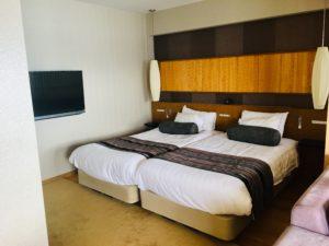 ホテルのベッドスペース