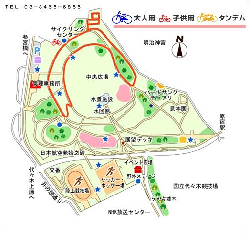 代々木公園の地図