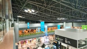 新千歳空港内を上から見た写真