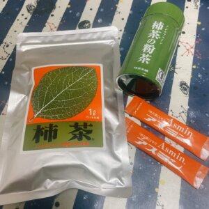 柿茶の製品3種類