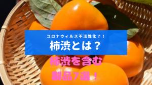 ザルに乗った柿の実